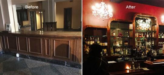 Dillinger's Martini Bar Restoration   Olympia, WA