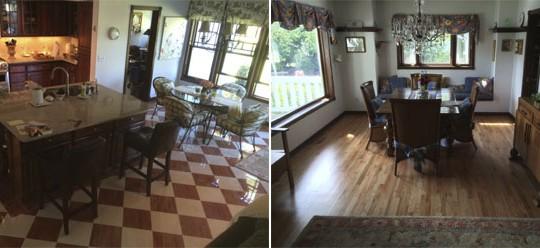 McCabe Residence Tile & Hardwood Floor Remodel | Olympia, WA