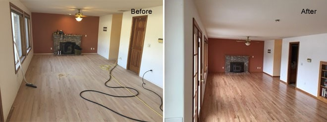 Templin Floor Refurbish | Roy, WA