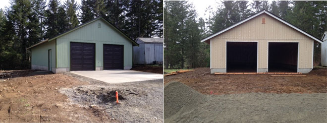 Esch Garage ~ New Construction | Roy, WA