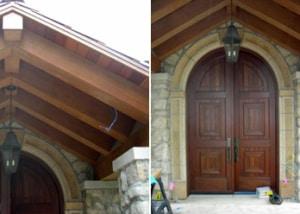 Custom Stonework for Door and Window Surrounds