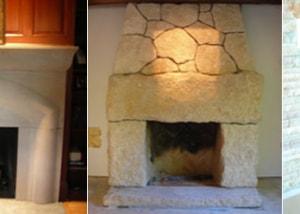 Custom Fireplace and Mantel Stonework Surrounds