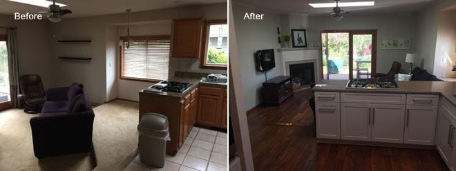 VanBoening Residence Kitchen Remodel U0026 Hardwood Flooring | Olympia, WA    First Finishers LLC