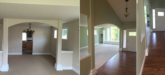 French Residence Remodel with New Hardwood Flooring & Carpeting | Olympia, WA