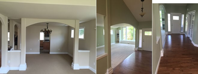 French Residence Remodel with New Hardwood Flooring & Carpeting ...