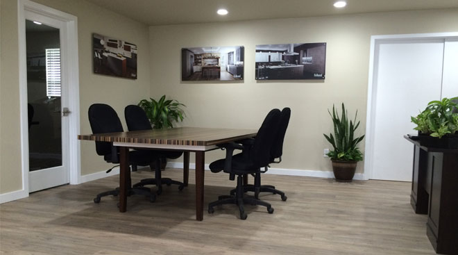 First Finishers Office Features Luxury Vinyl Plank